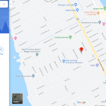 Google map of Norfolk Street