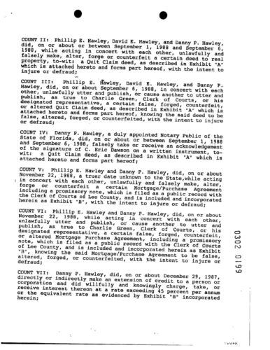 Phil, Danny, David and Paul Charges Affidavit page 2
