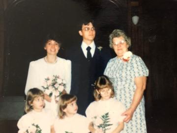 Pelley family at Bob and Dawn's Wedding