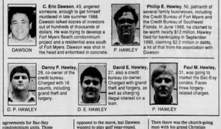 Hawleys newspaper clipping