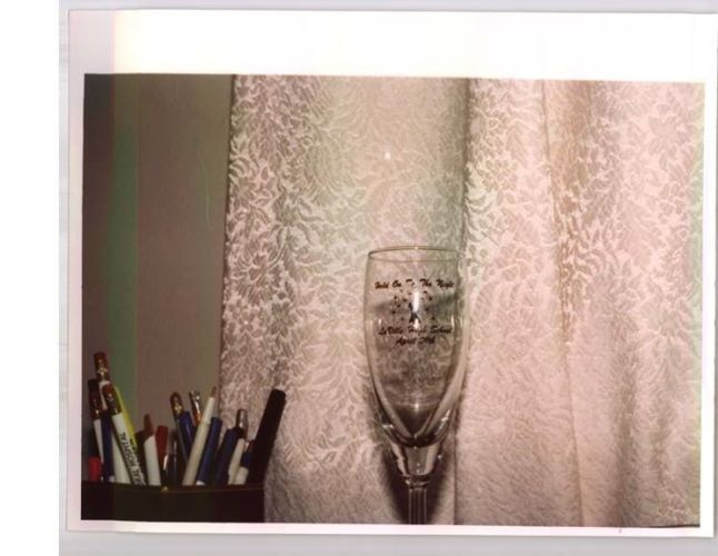 close up of a champagne glass